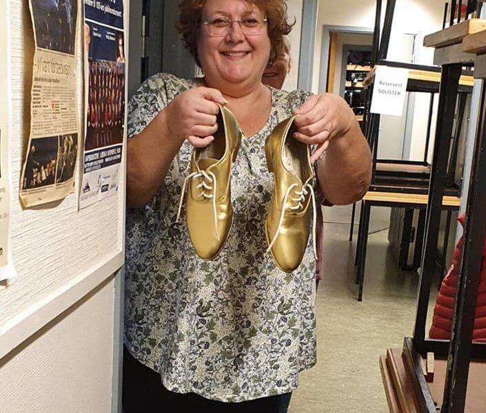 Leder Heidi kan bekrefte at vi hadde et par gyllne skor under konserten. FOTO: Vigdis Johansen.
